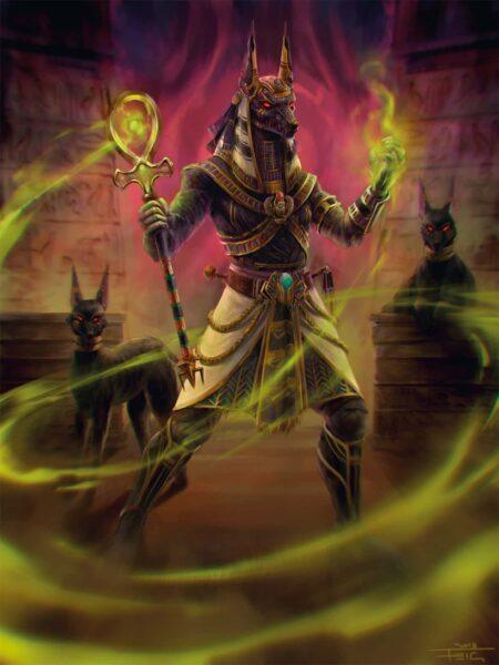 Deidad egipcia Anubis