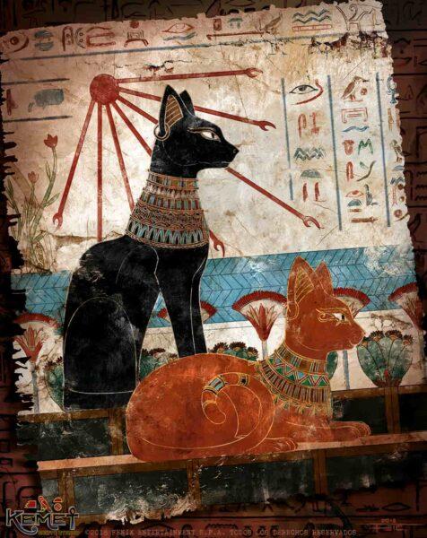 Gatos de la mitología egipcia