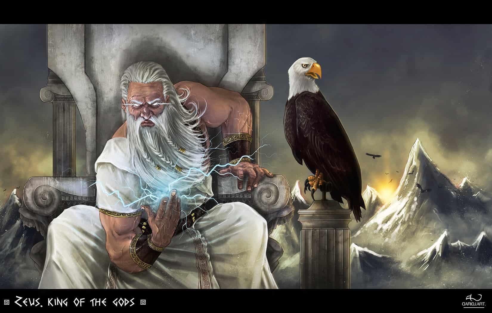 Zeus rey de los dioses griegos