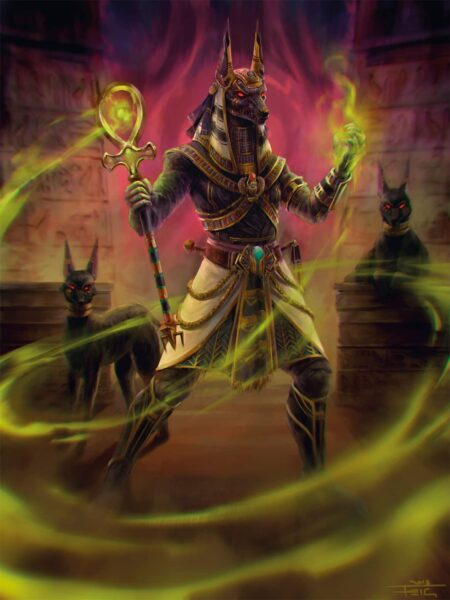 Mitología egipcia Dios anubis