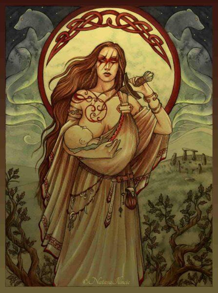mitología celta. Mujer guerrera