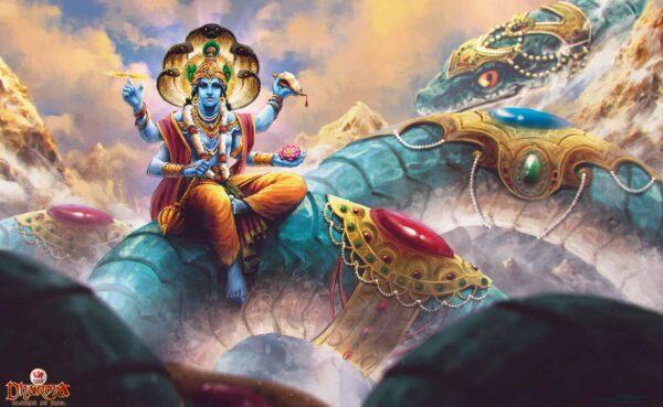 Vishnu dios de la mitología Hindu